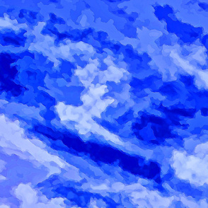 Cloud Abstract - Blue-YD