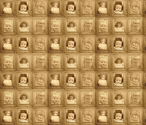 sepia spooky baby fabric by funkomavintage on Spoonflower - custom fabric