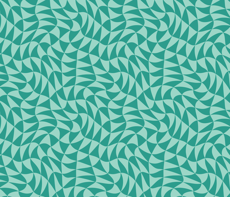 triangle swirl in jade fabric by weavingmajor on Spoonflower - custom fabric