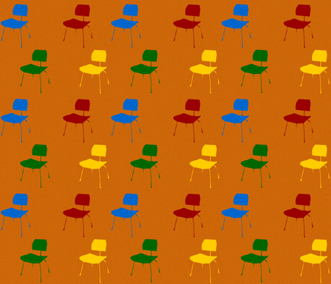 Chaise rouge fabric mimix spoonflower - Chaise paysanne rouge ...