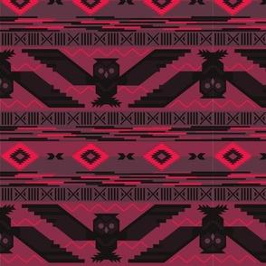 Aztec Owl Pink