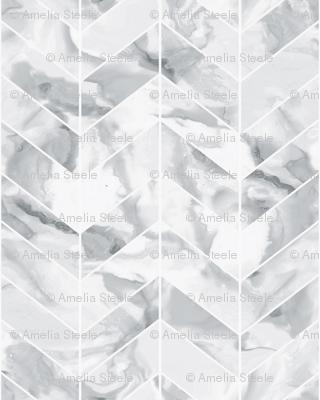 Carrera Marble Herringbone Wallpaper Willowlanetextiles