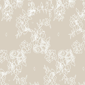 Chantilly Lace on taupe