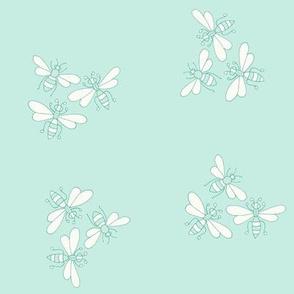 Flower Bees, Green