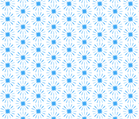 Starburst Large - Blue fabric by morganleal on Spoonflower - custom fabric