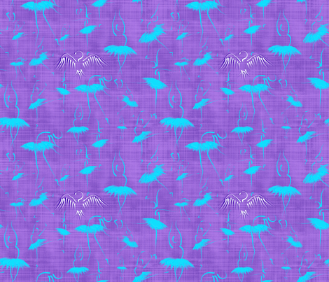 Le_lac_des_cygnes_violet fabric by un_temps_de_coton on Spoonflower - custom fabric