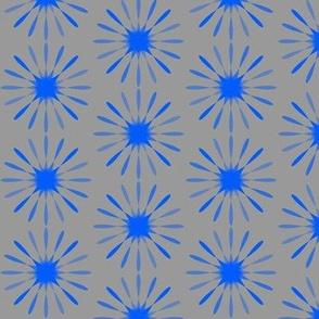 starburst large - grey & blue
