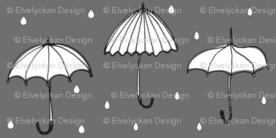 grey umbrella - elvelyckan