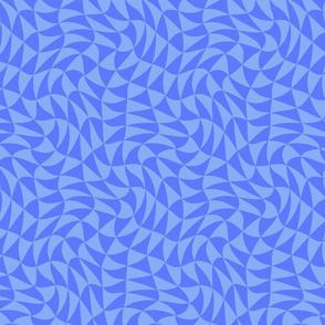 triangle swirl in chicory blue