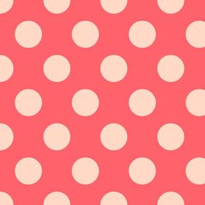 Polka Dot Coral Peach