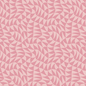 triangle swirl in tulip pink