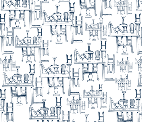 Tables and Chairs fabric by svaeth on Spoonflower - custom fabric