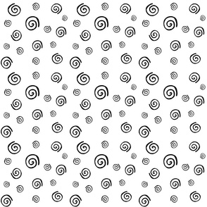 Spirals Pattern black & white