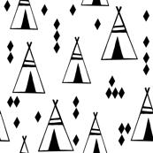tipi // black and white teepee southwest nursery