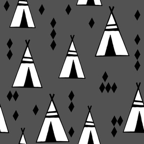 tipi // southwest charcoal grey southwest nursery