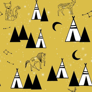 tipi constellations // mustard tipi southwest baby