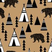 tipi forest // southwest bear triangle nursery