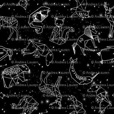 constellations // black and white kids nursery baby geometric animals