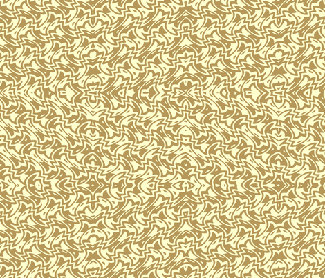 art deco zigzag in caramel and cream fabric by weavingmajor on Spoonflower - custom fabric