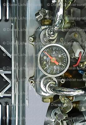 Steampunk - Car Engine Analog gauge