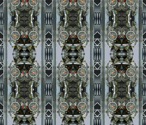 Steampunk - Car Engine Analog gauge fabric by zsmama on Spoonflower - custom fabric
