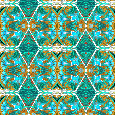 Snorkeling in Tahiti fabric by edsel2084 on Spoonflower - custom fabric