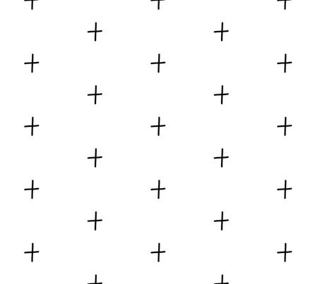 Black & White Plus fabric by charliejane on Spoonflower - custom fabric
