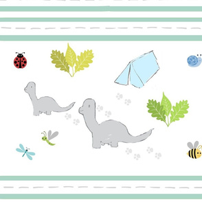 Dino Friends LG  double stripes