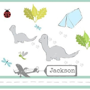 Dino Friends stripe-small personalized
