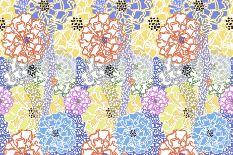 Floral Cheetah fabric by lulabelle on Spoonflower - custom fabric