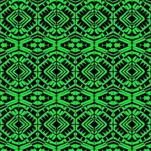 Tribal Woven Visions Green