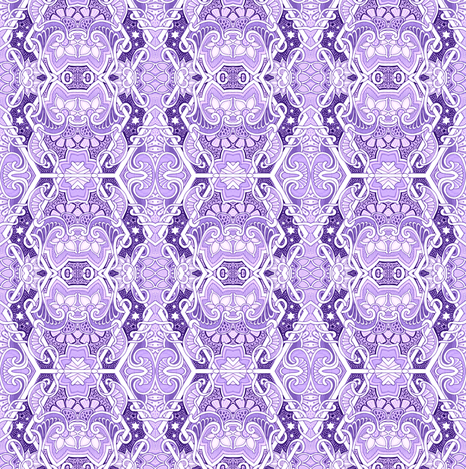 Lavender Intentions fabric by edsel2084 on Spoonflower - custom fabric