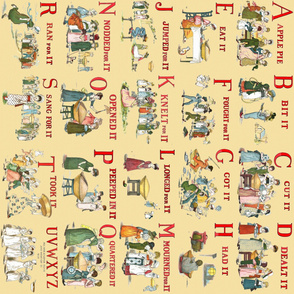 """Kate Greenaway's """"A Is For Apple"""" ~ Border Print"""