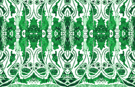Enchanted in Emerald fabric by hummingbird-stitch on Spoonflower - custom fabric