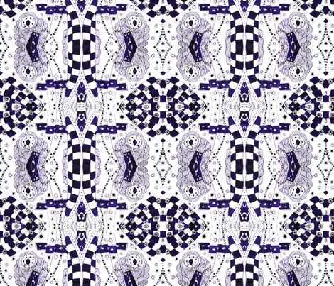 Wonderland in Violet fabric by hummingbird-stitch on Spoonflower - custom fabric