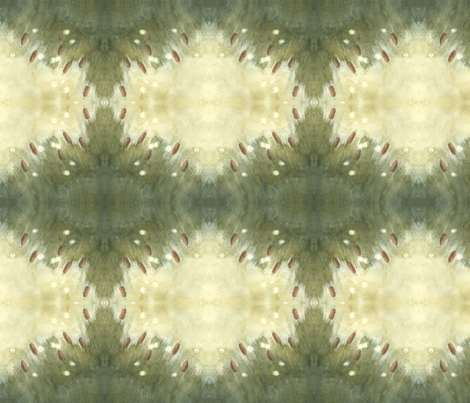 Cattails fabric by hummingbird-stitch on Spoonflower - custom fabric