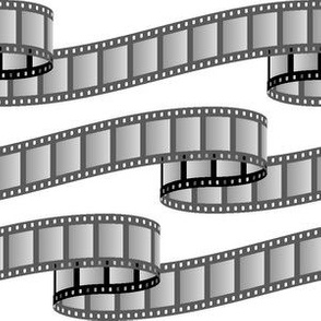 film ribbon : black and white