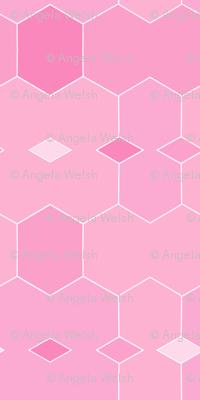 Fabulously Pink Hexigonal Diamonds