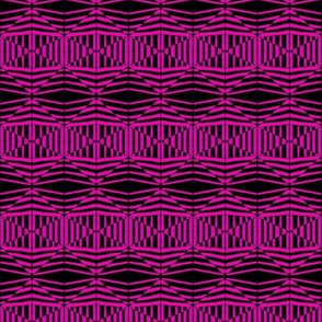 Tribal Woven Triangles Pink