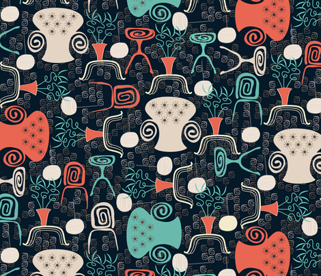 Wonky Lounge fabric by jill_o_connor on Spoonflower - custom fabric