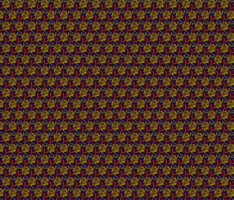 redBlueYellowHex fabric by craige on Spoonflower - custom fabric