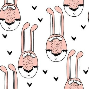 bunny // pink bunny head pastel girl hearts sweet