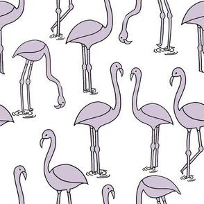Flamingo new - Lavender by Andrea Lauren