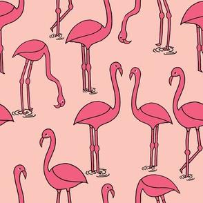 Flamingo new - Pale Pink by Andrea Lauren