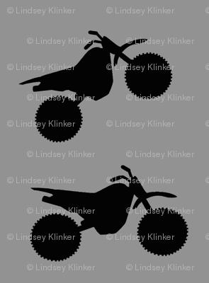 Black on Grey Dirt Bikes 2