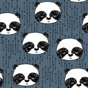 Panda Head - Payne's Grey by Andrea Lauren