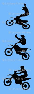 Black on Blue action dirt bikes