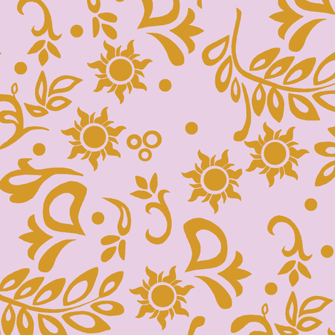 Tangled Wedding Purple fabric by aimee on Spoonflower - custom fabric