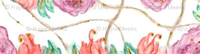 Lavender & Peach floral dance