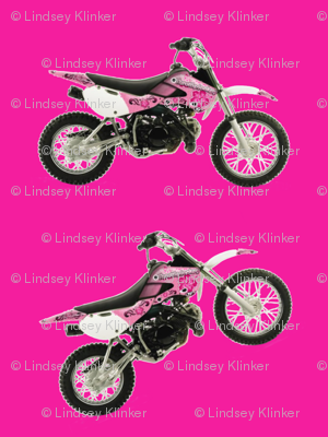 Pink on Pink Dirt Bikes